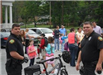 Bicycle Officers with Children on Tour