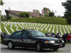 Black Mountain Police Department Car at Cemetery