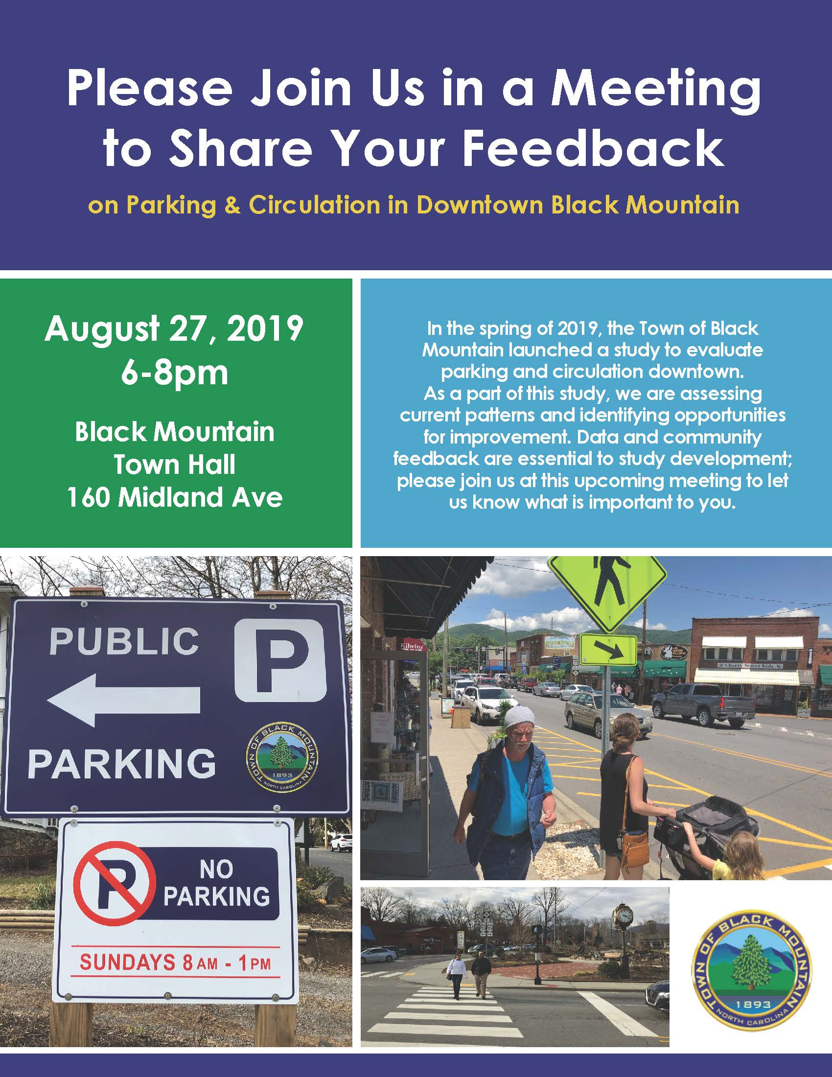 Parking Study Meeting Flyer