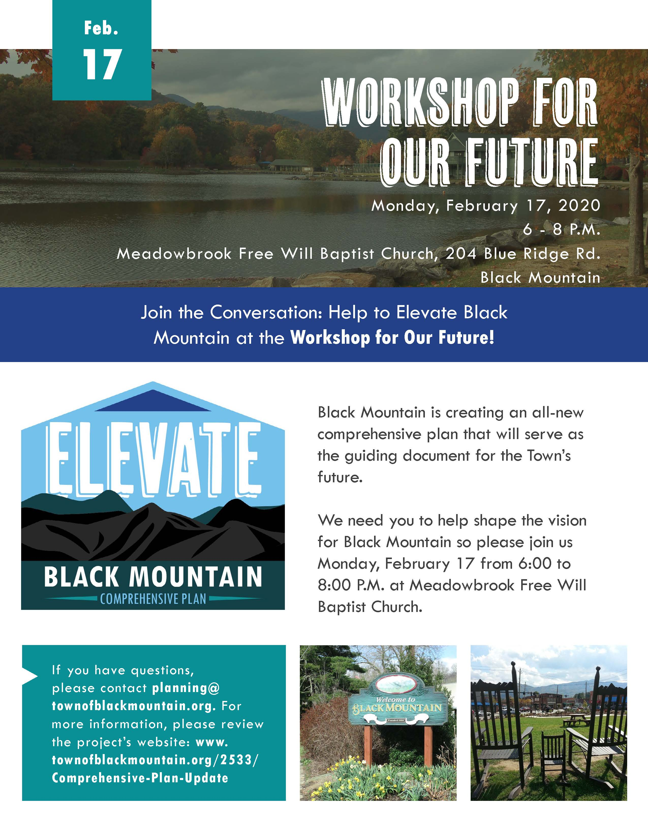 Elevate Black Mountain Workshop for our Future Flyer