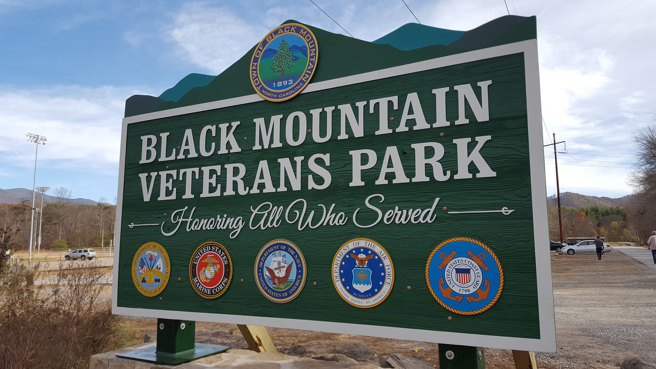 BM Veterans Park Sign
